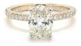 1.01ct Oval Petite French Cut Engagement Ring in 14K Yellow Gold- James Allen