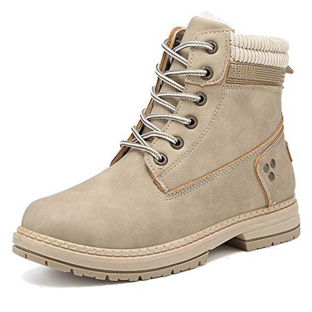 KARKEIN Ankle Boots for Women Low Heel Work Combat Boots Waterproof Winter Snow Boots | Snow Boots