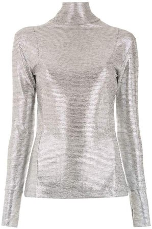 Gloria Coelho high neck knitted top