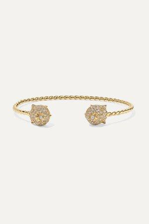 Gucci | Le Marché des Merveilles 18-karat gold, diamond and turquoise cuff | NET-A-PORTER.COM