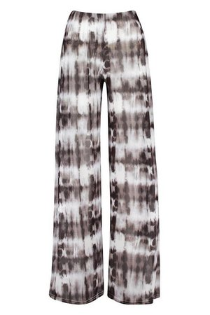 Tie Dye Beach Trousers | Boohoo White