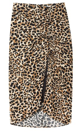 Ruched pencil skirt - Women's Just in | Stradivarius United States