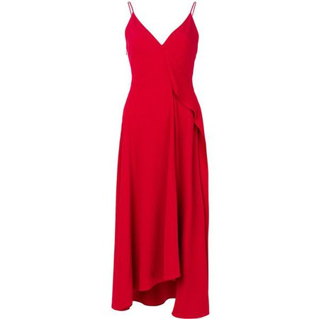 VICTORIA BECKHAM Asymmetric Red Dress