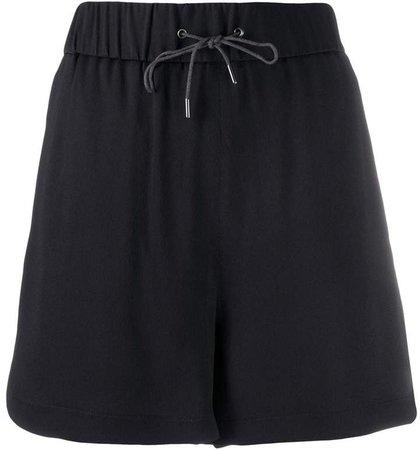 high-waisted drawstring-waist shorts
