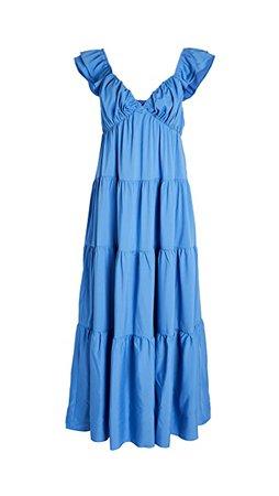 ENGLISH FACTORY Ruffle Sleeve Maxi Dress   SHOPBOP