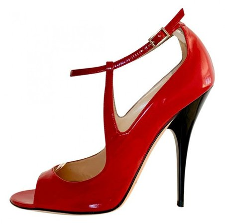 Lance Red Patent leather Sandals