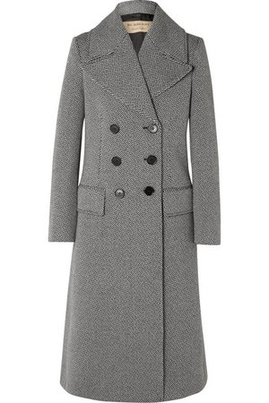 Burberry | Herringbone wool-blend tweed coat | NET-A-PORTER.COM