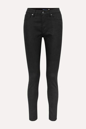 721 Cropped High-rise Skinny Jeans - Black