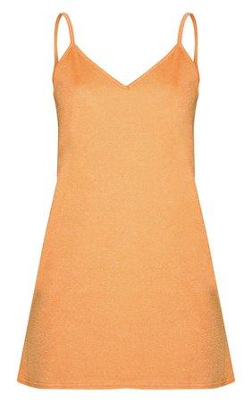 PrettyLittleThing Orange Strappy Detail Swing Dress