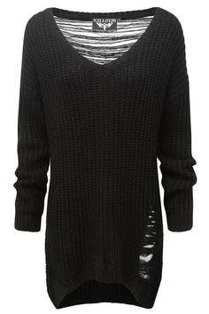 Killstar Shredded Sweater