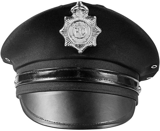 Amazon.com: Police Hat - Cop Hat - Black Captain Hat - Officer Hat - Police Officer Costume Accessories by Funny Party Hats: Clothing