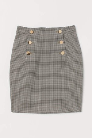 Knee-length Skirt - Green