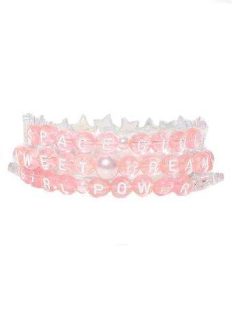 Cheeky Pink Beaded Bracelets