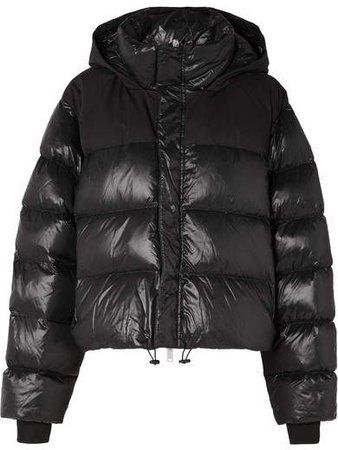 Unravel Project - Quilted Shell Down And Cotton Jacket - Black