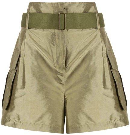 Erika Cavallini High-Rise Silk Shorts