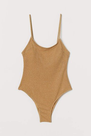 Swimsuit with Padded Cups - Beige
