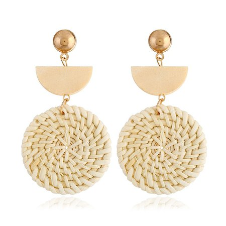 Earrings straw and gold