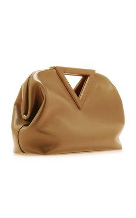 The Triangle Leather Bag Bottega