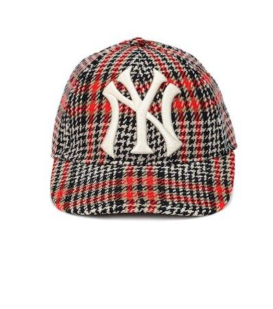 NY Yankees houndstooth baseball cap