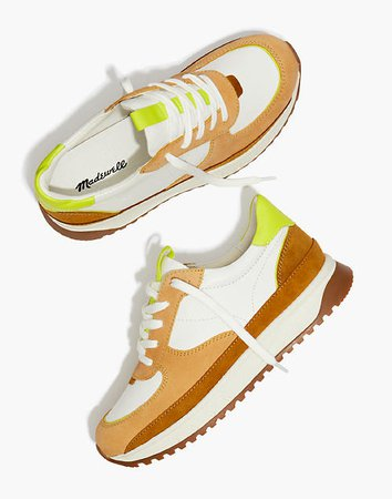 Kickoff Trainer Sneakers in Leather and Suede brown