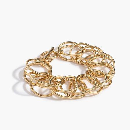 J.Crew: Interlocking Circle Chain Bracelet For Women