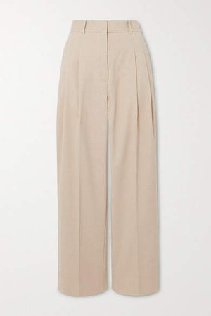 Louisamay Woven Straight-leg Pants - Beige