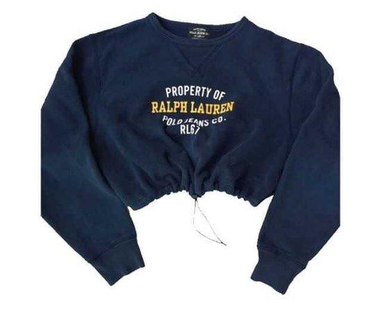 Ralph Lauren Crop Nagy Blue Sweater
