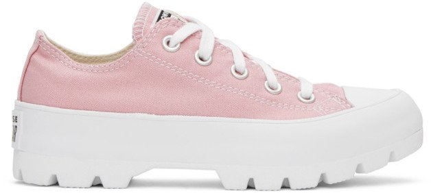 Pink Lugged Chuck Taylor All Star Sneakers