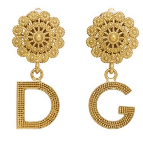 dolce and gabbana gold earrings
