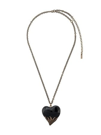 Saint Laurent Heart Pendant Necklace - Farfetch