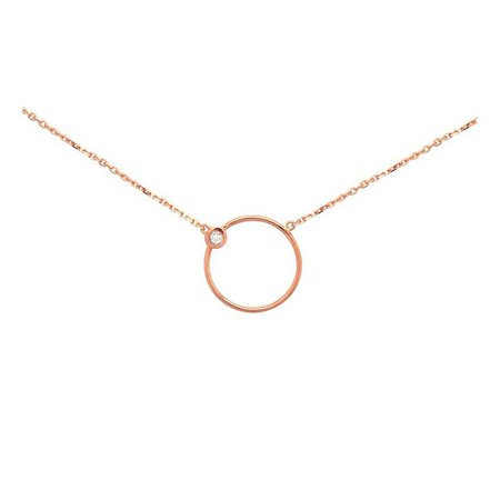 cute necklace pink gold