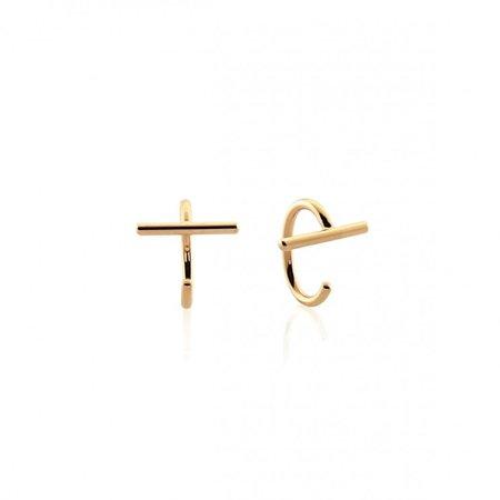 Bar Open Huggies Earrings – J&CO Jewellery