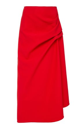 Thistle Gathered Crepe Skirt By Acler | Moda Operandi