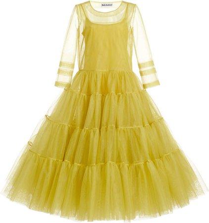 Molly Goddard Suzelle Tiered Tulle Midi Dress