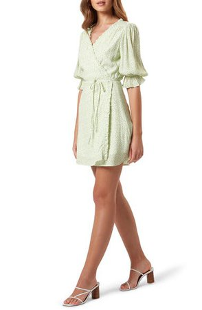 Charlie Holiday Ditsy Floral Wrap Dress | Nordstrom