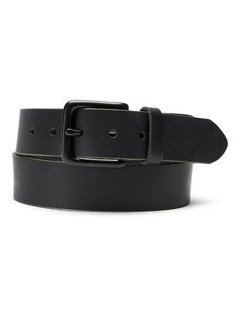 Enamel Buckle Leather Belt | Banana Republic