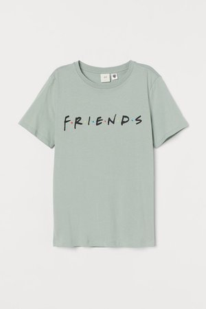 T-shirt with Motif - Light green/Friends - Ladies | H&M US