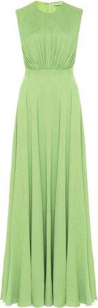 Emilia Wickstead Giordana Ruched Silk-Blend Dress