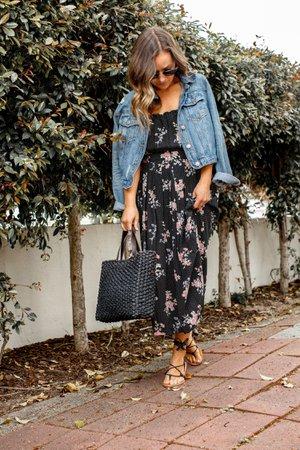 spring midi dress style - Google Search