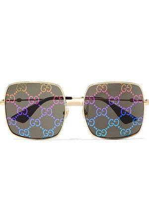 Gucci | Square-frame gold-tone sunglasses | NET-A-PORTER.COM