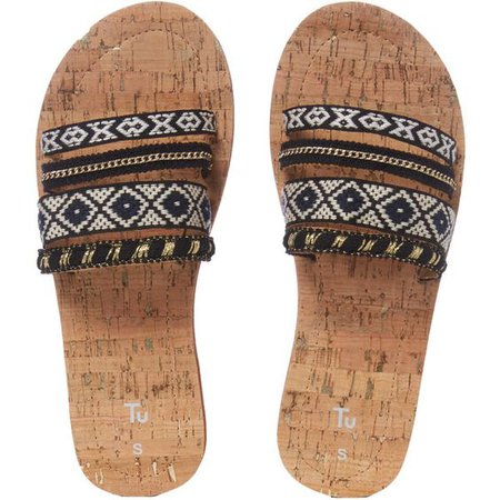 Pom-pom Mule Flip Flops