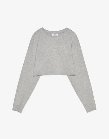 Cropped sweatshirt - Sweatshirts & Hoodies - Bershka Russia