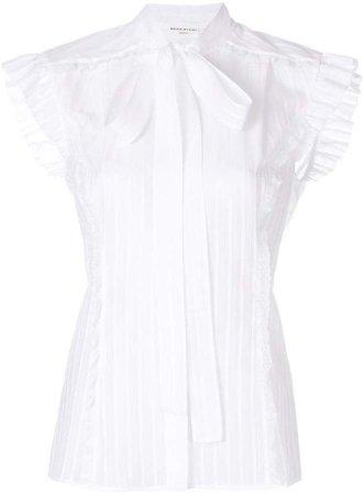 short-sleeve bow blouse