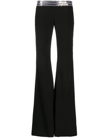 Balmain sequin-embellished Flared Trousers - Farfetch