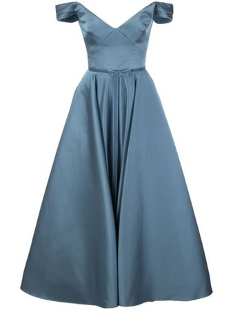 Marchesa Notte Off The Shoulder Flared Gown - Farfetch
