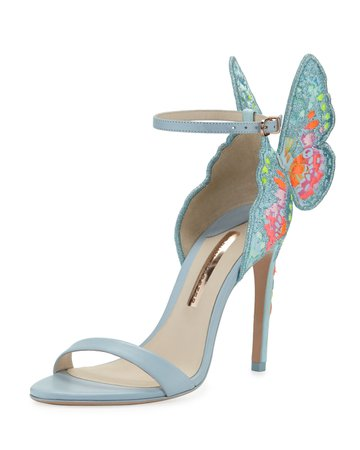 Sophia Webster Chiara Embroidered Butterfly Sandals | Neiman Marcus