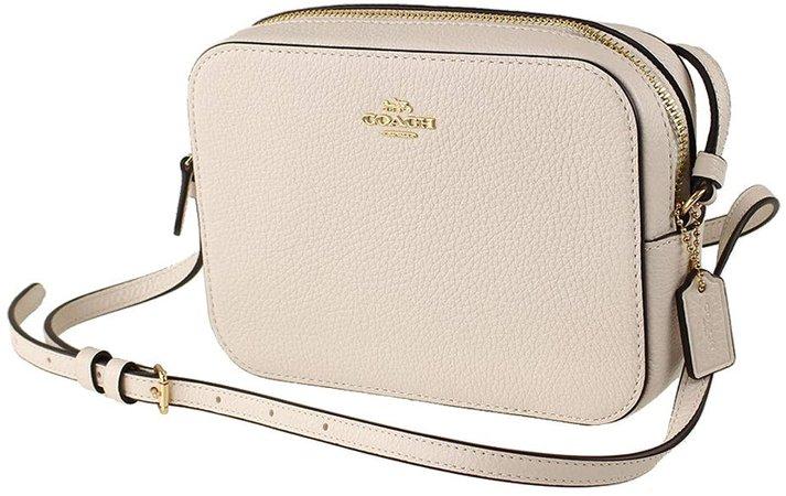 Coach Leather Mini Camera Crossbody Shoulder Bag, Chalk: Handbags: Amazon.com
