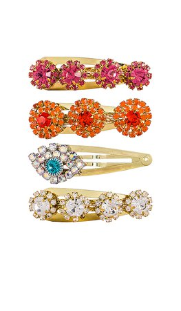 Vanessa Mooney The Bangin & Evil Eye Clips in Multi | REVOLVE