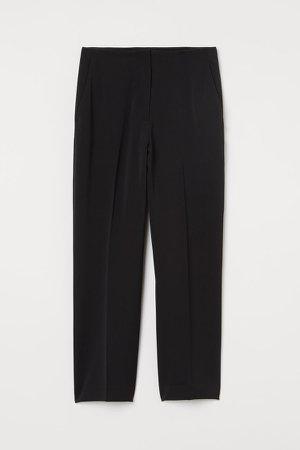 Wide-leg Suit Pants - Black