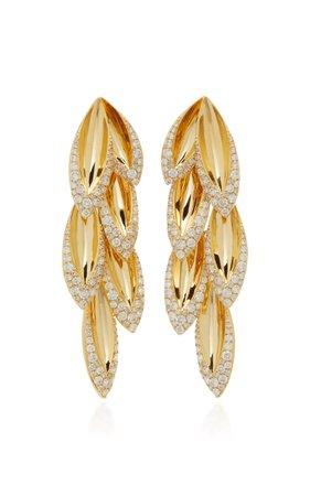 Sutra Kashmir Petal Long Drop Earrings